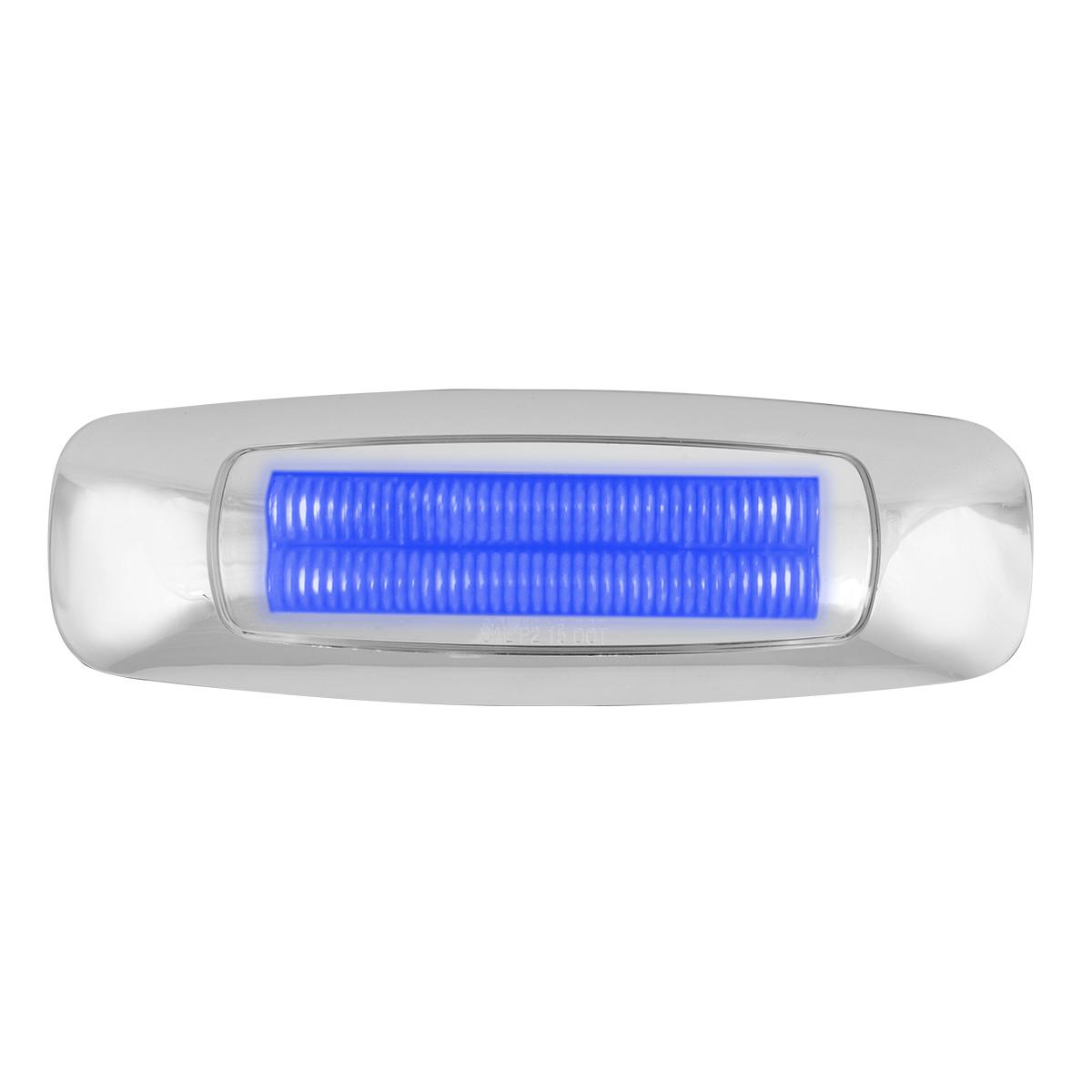 """5"""" Rectangular Blue/Clear LED Light"""