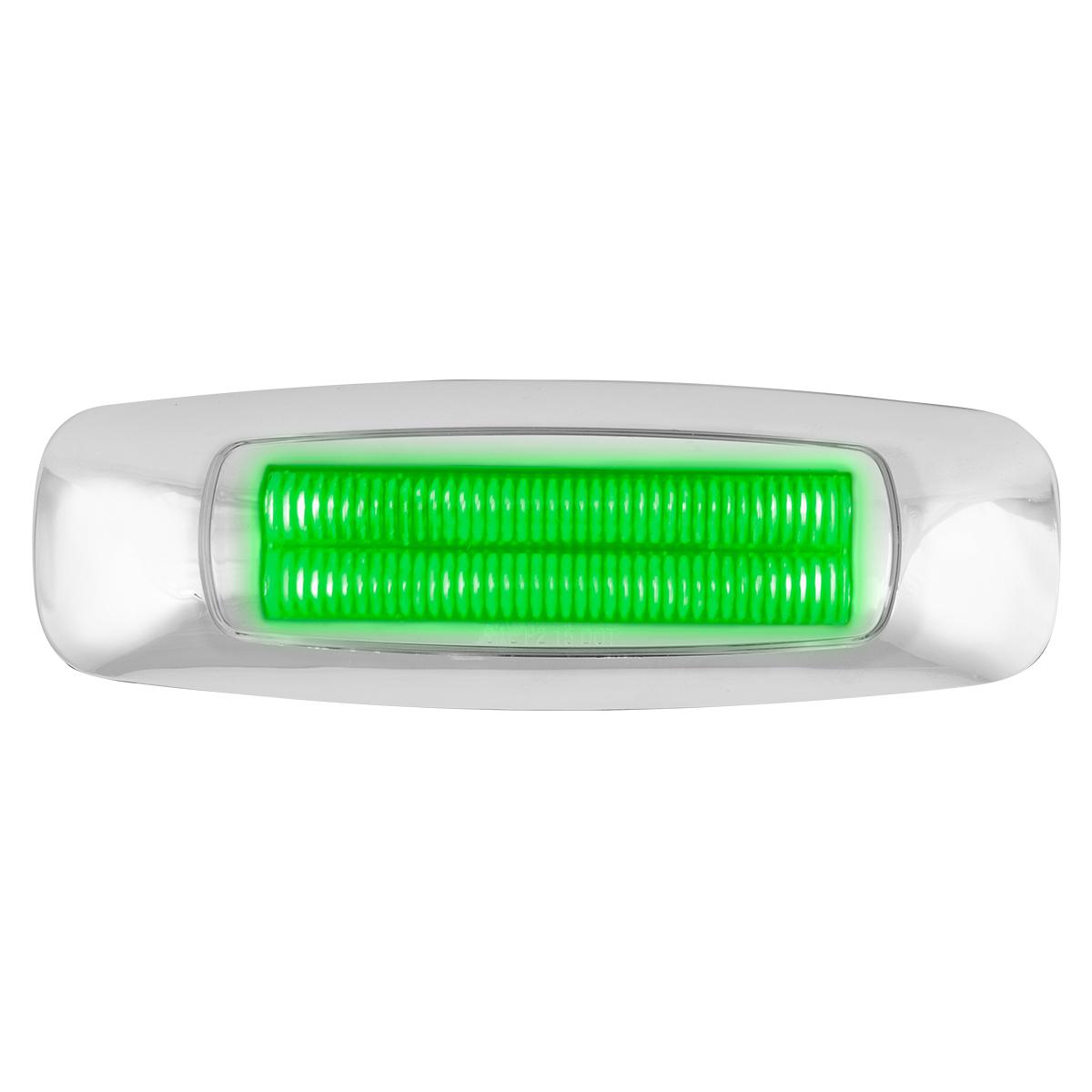"""5"""" Rectangular Green/Clear LED Light"""