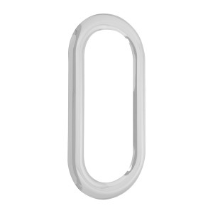 Stainless Steel Exterior Door Oval View Window Cover for Peterbilt 379