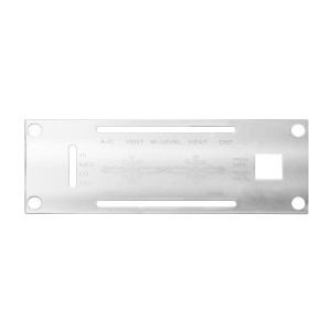 Stainless Steel A/C Control Panel Plate for Kenworth