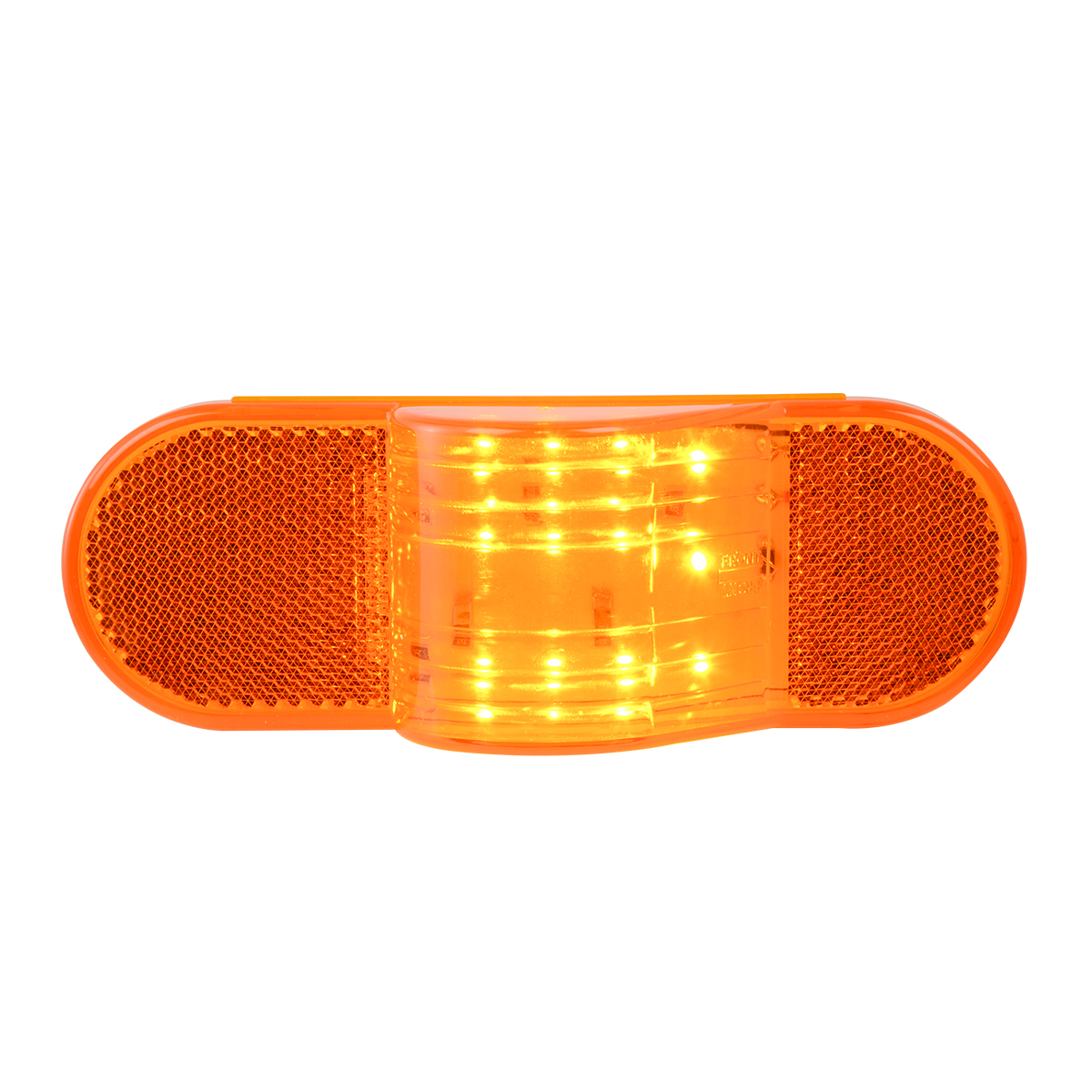 79995 Oval Side Marker & Turn 12 LED Light w/ Reflector