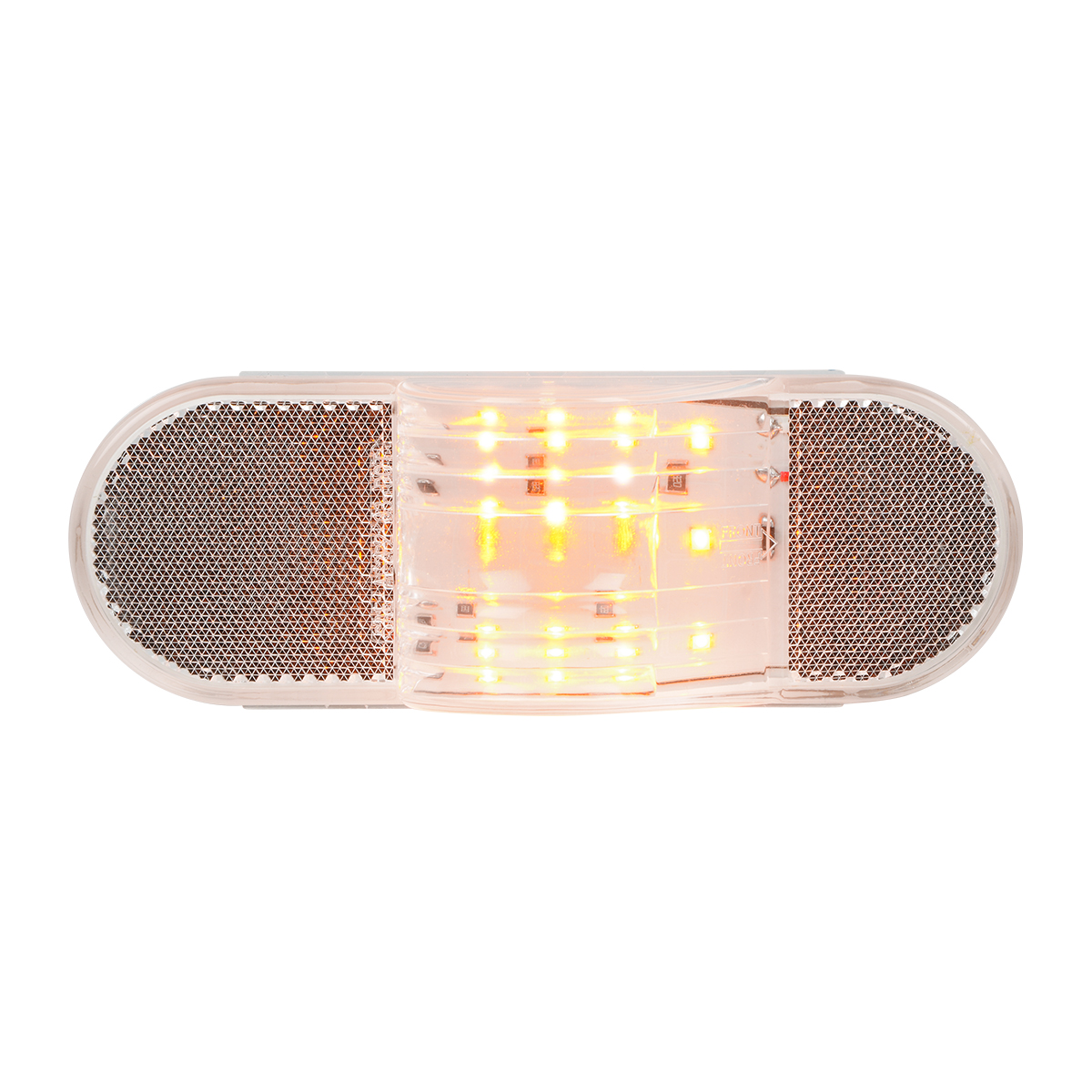 79996 Oval Side Marker & Turn 12 LED Light w/ Reflector