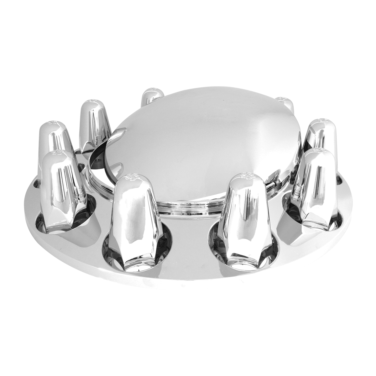40130 Chrome Plastic ABS Front Axle Covers with Removable Standard Hub Cap