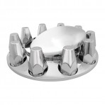 Chrome Plastic ABS Front Axle Covers with Removable Standard Hub Cap