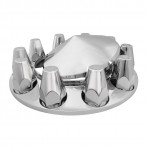 Chrome Plastic ABS Front Axle Covers with Removable Cone Hub Cap