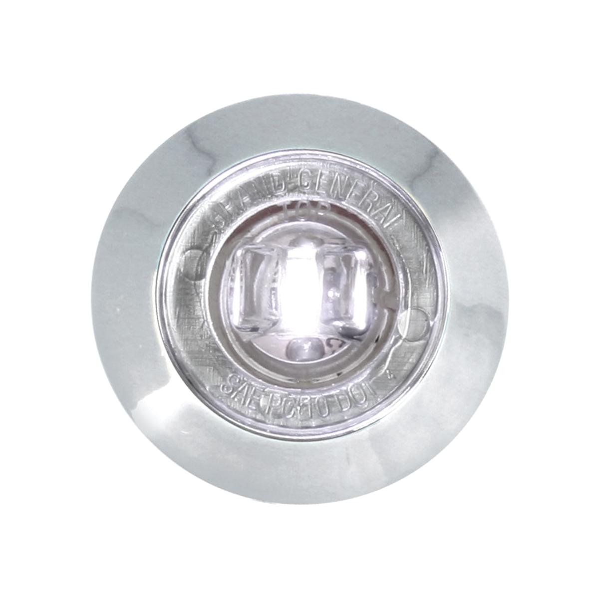 "75274 1"" Dual Function Mini Push/Screw-in Wide Angle LED Light w/ Chrome Bezel"