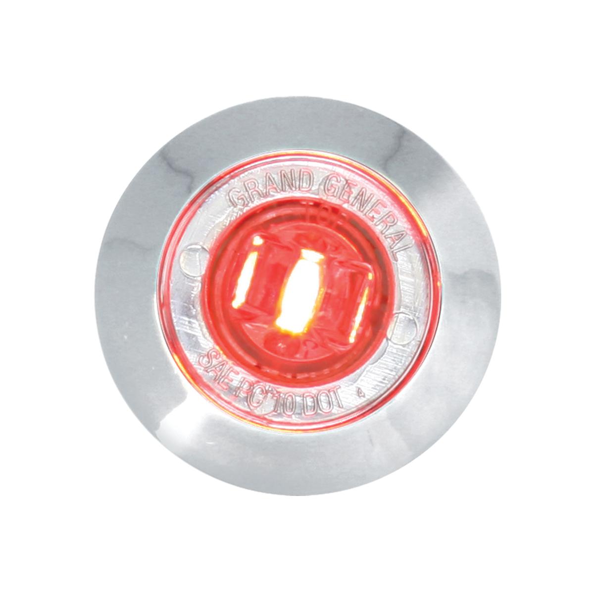 "75273 1"" Dual Function Mini Push/Screw-in Wide Angle LED Light w/ Chrome Bezel"