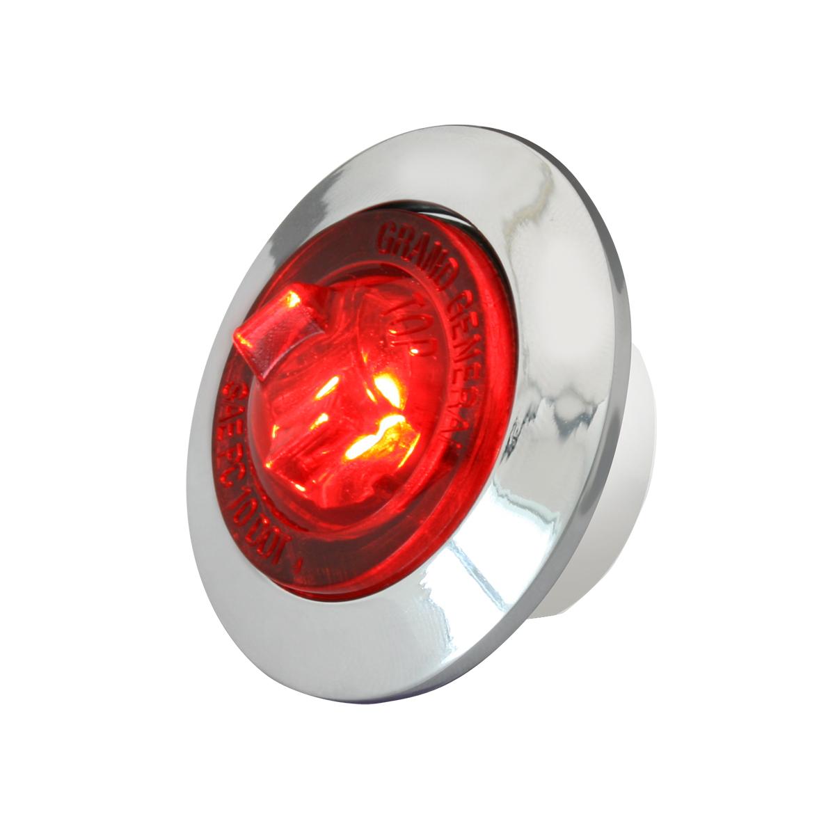 "75272 1"" Dual Function Mini Push/Screw-in Wide Angle LED Light w/ Chrome Bezel"