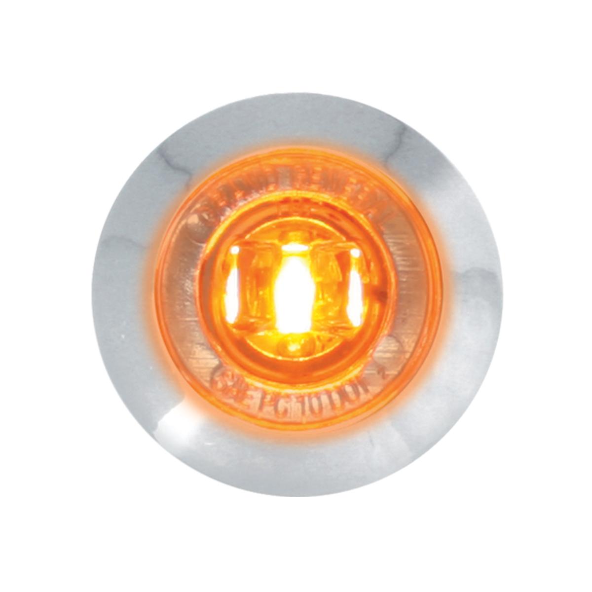"75271 1"" Dual Function Mini Push/Screw-in Wide Angle LED Light w/ Chrome Bezel"