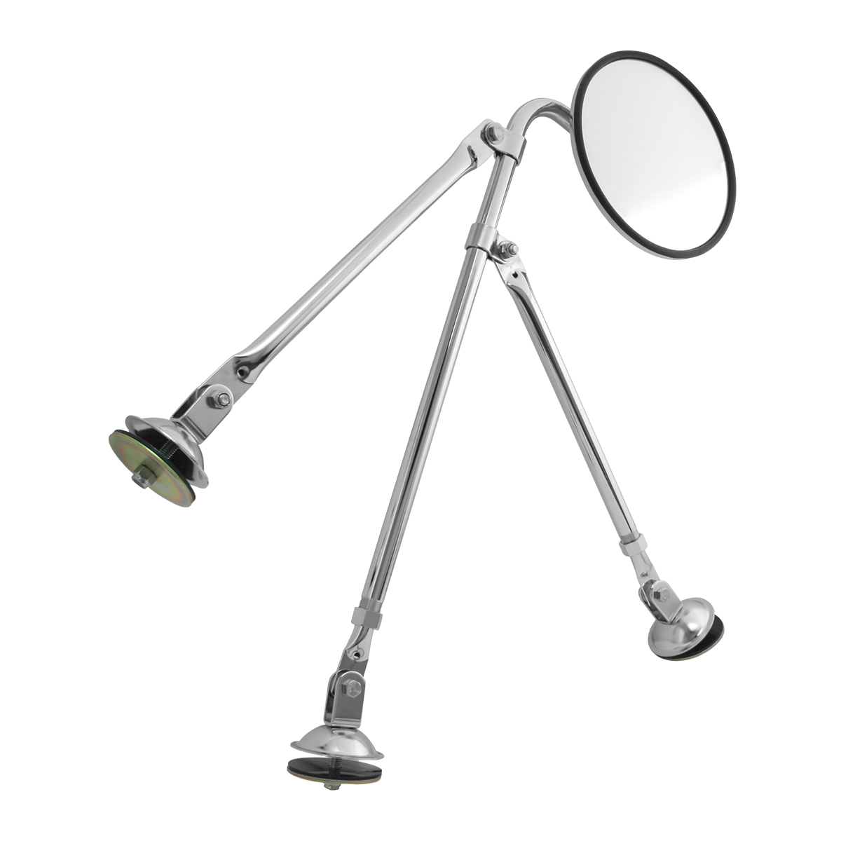 "Tripod Fender Mount Safety Mirror Assembly with 8"" Convex Mirror"