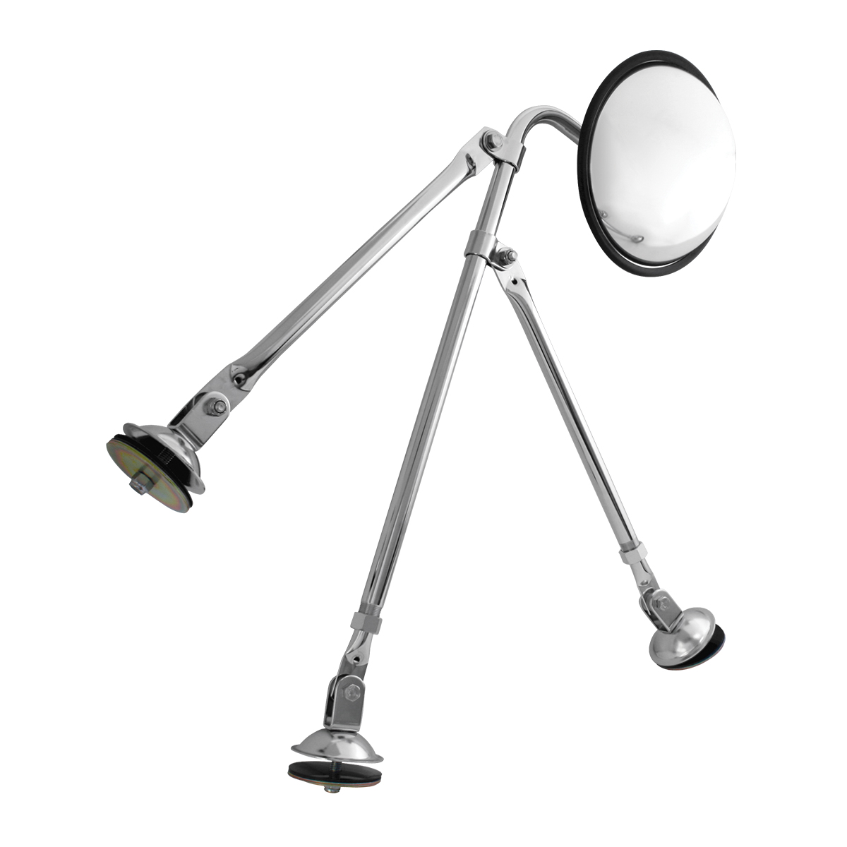 "Tripod Fender Mount Safety Mirror Assembly with 8.5"" Wide Angle Convex Mirror"