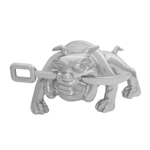 Bulldog with Winch Bar Hood Ornament