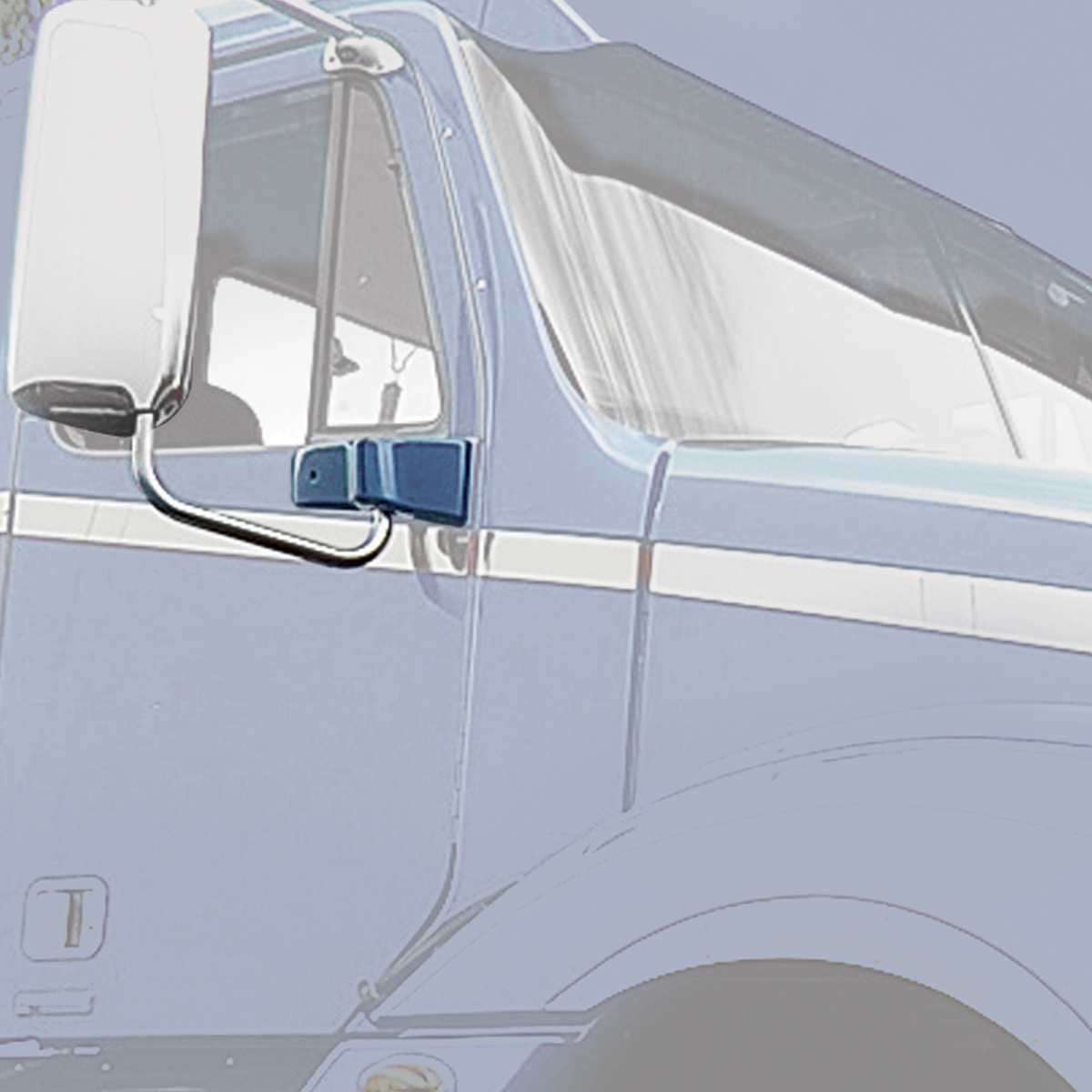 67813 Chrome Plastic Exterior Door Mirror Bracket Cover for Freightliner