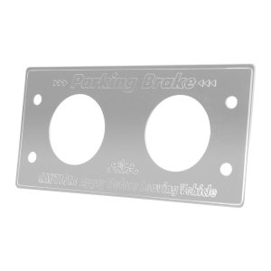 Stainless Steel Parking Brake Control Switch Plate for Kenworth