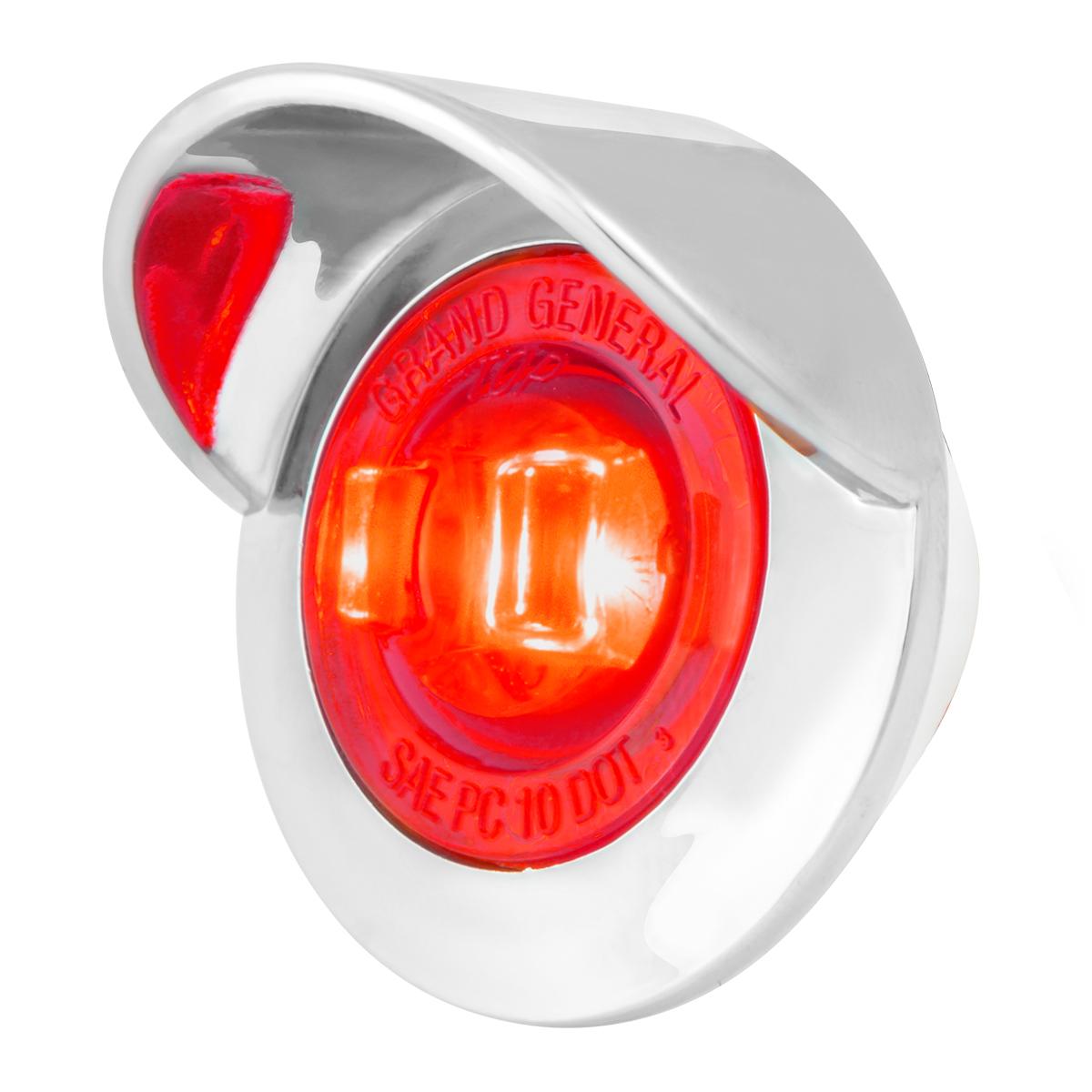 "75262 1"" Dual Function Mini Push/Screw-in Wide Angle LED Light w/ Chrome Bezel & Visor"