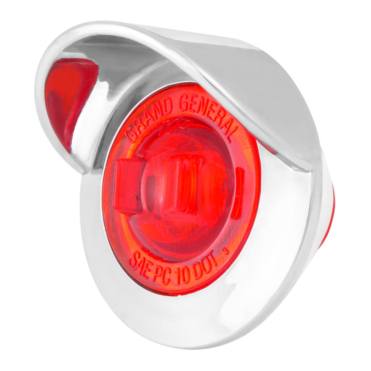 """75252 1"""" Dia. Mini Push/Screw-in Wide Angle LED Marker Light w/ Chrome Bezel & Visor"""