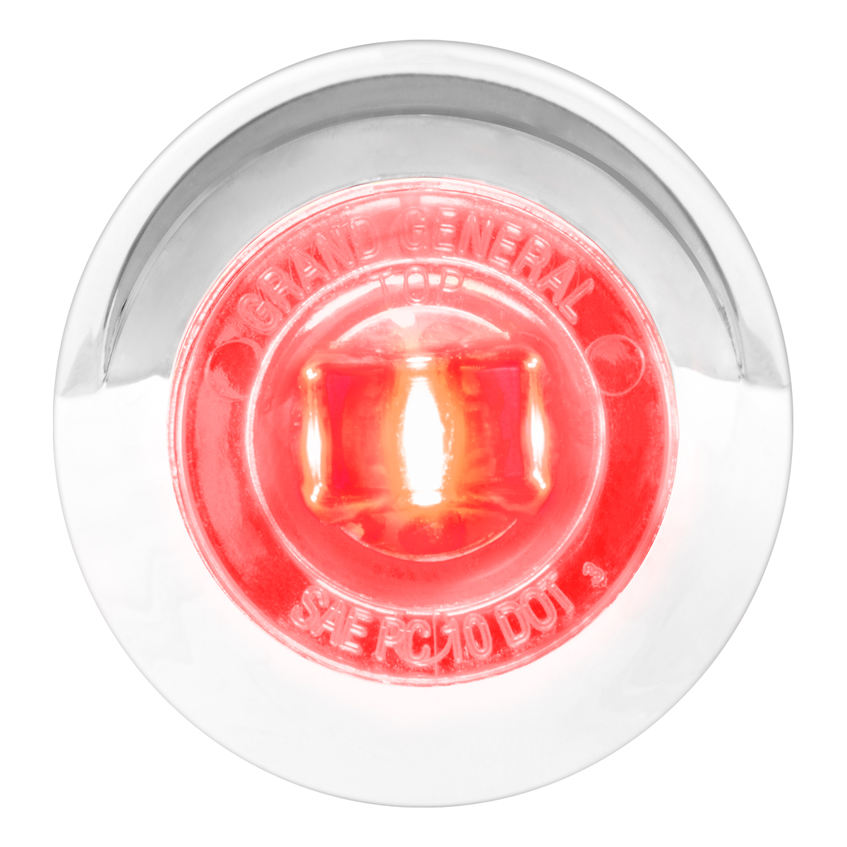 """75253 1"""" Dia. Mini Push/Screw-in Wide Angle LED Marker Light w/ Chrome Bezel & Visor"""