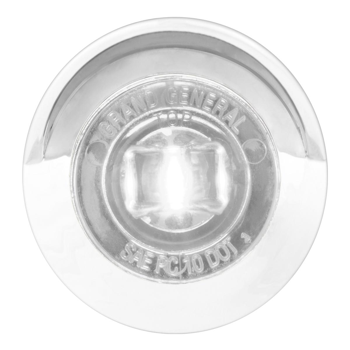 "75264 1"" Dual Function Mini Push/Screw-in Wide Angle LED Light w/ Chrome Bezel & Visor"