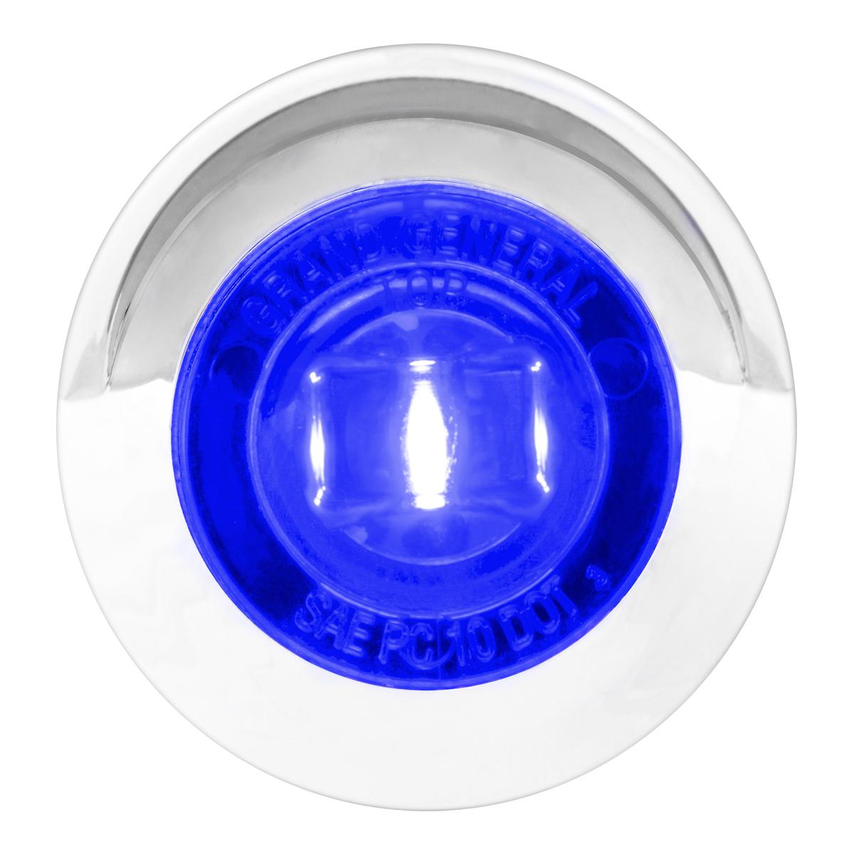 """75255 1"""" Dia. Mini Push/Screw-in Wide Angle LED Marker Light w/ Chrome Bezel & Visor"""