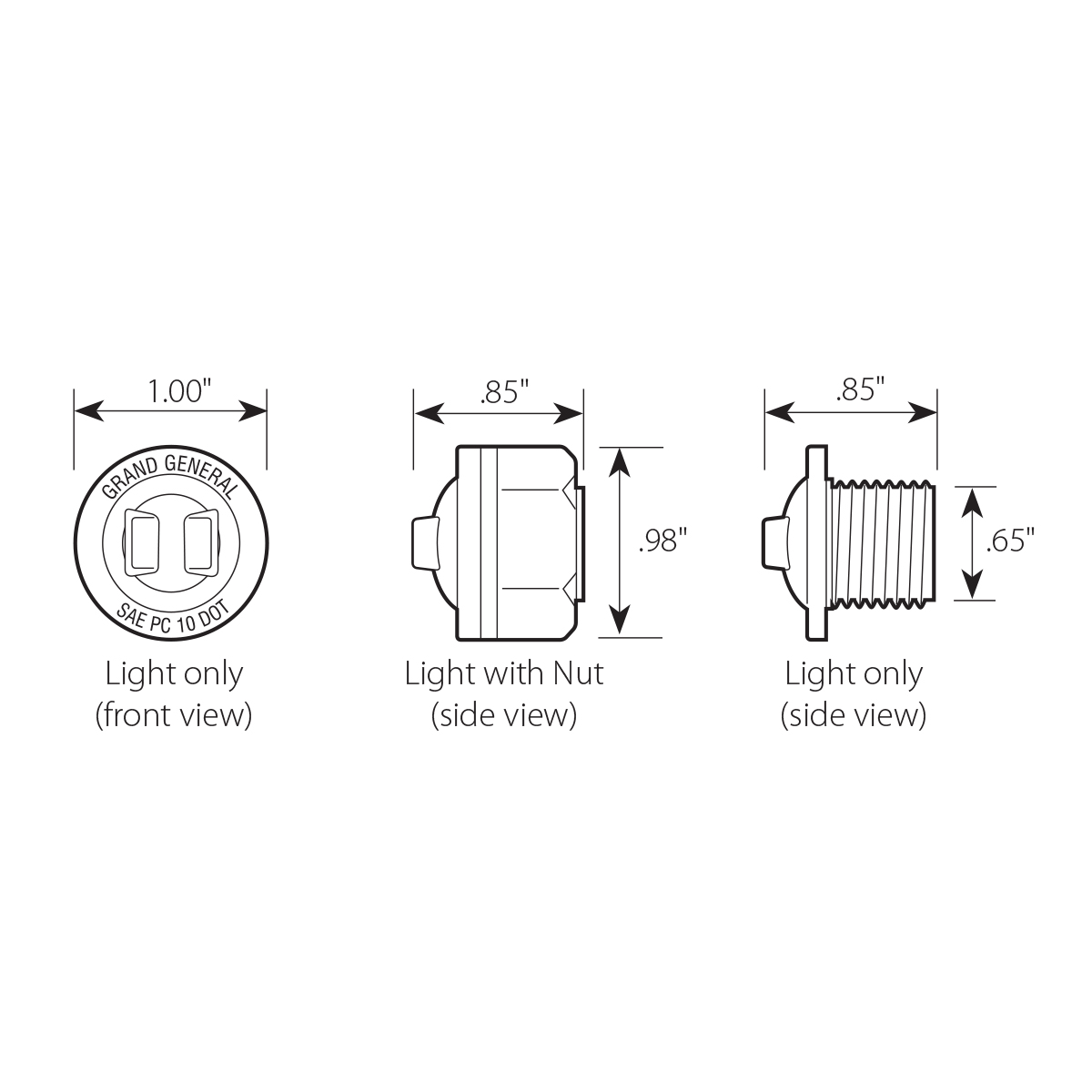 """1"""" Dual Function Mini Push/Screw-in Wide Angle LED Light"""