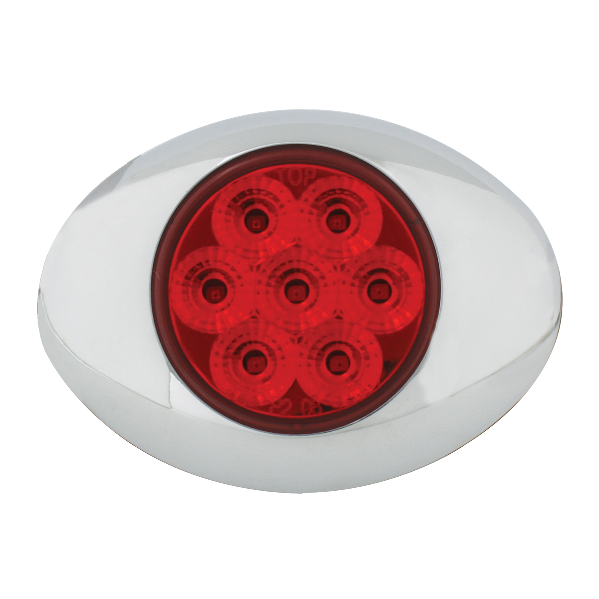 76197 Small Low Profile Surface Mount Spyder LED Marker & Turn Light w/ Chrome Bezel