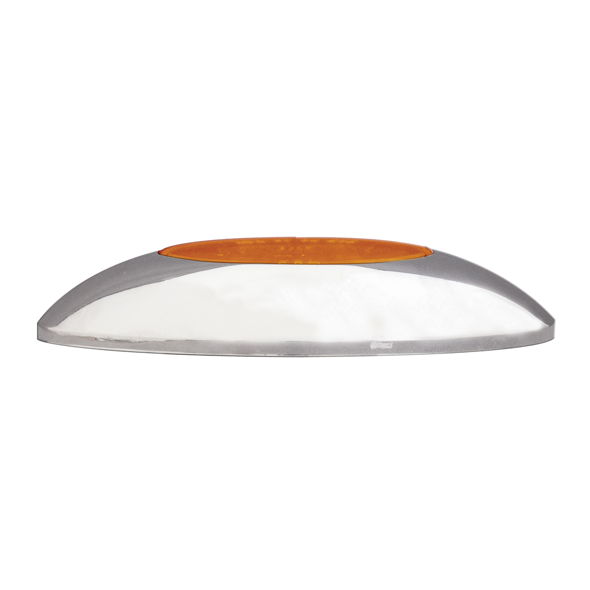 76235 Small Low Profile Surface Mount Pearl LED Marker & Turn Light w/ Chrome Bezel