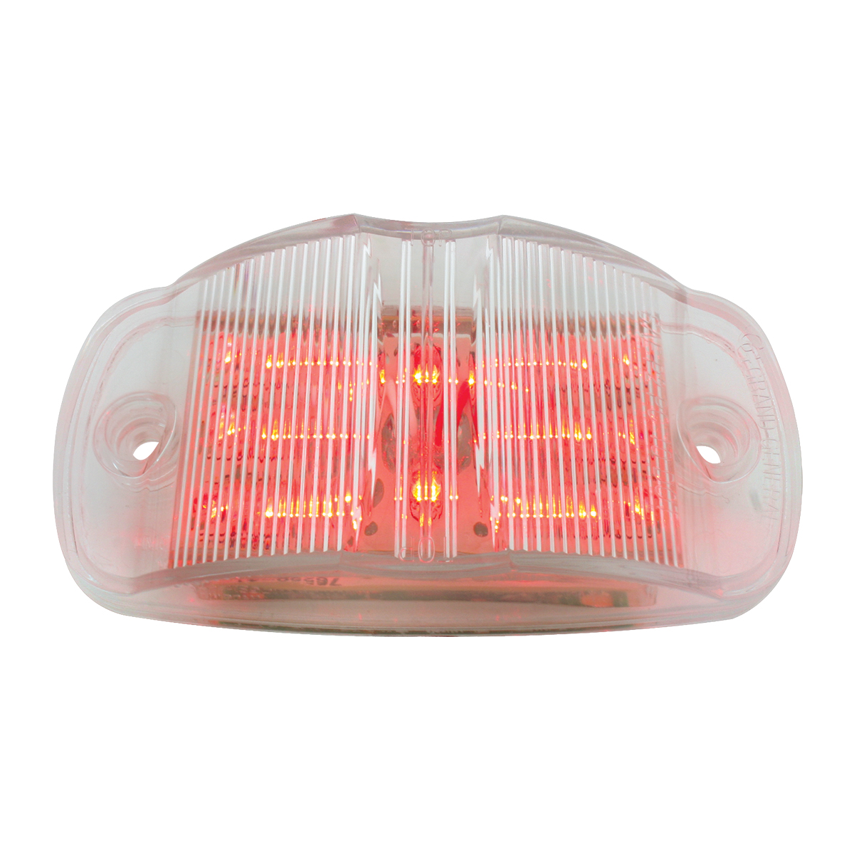 75163 Rectangular Camel Back Wide Angle Dual Function LED Light