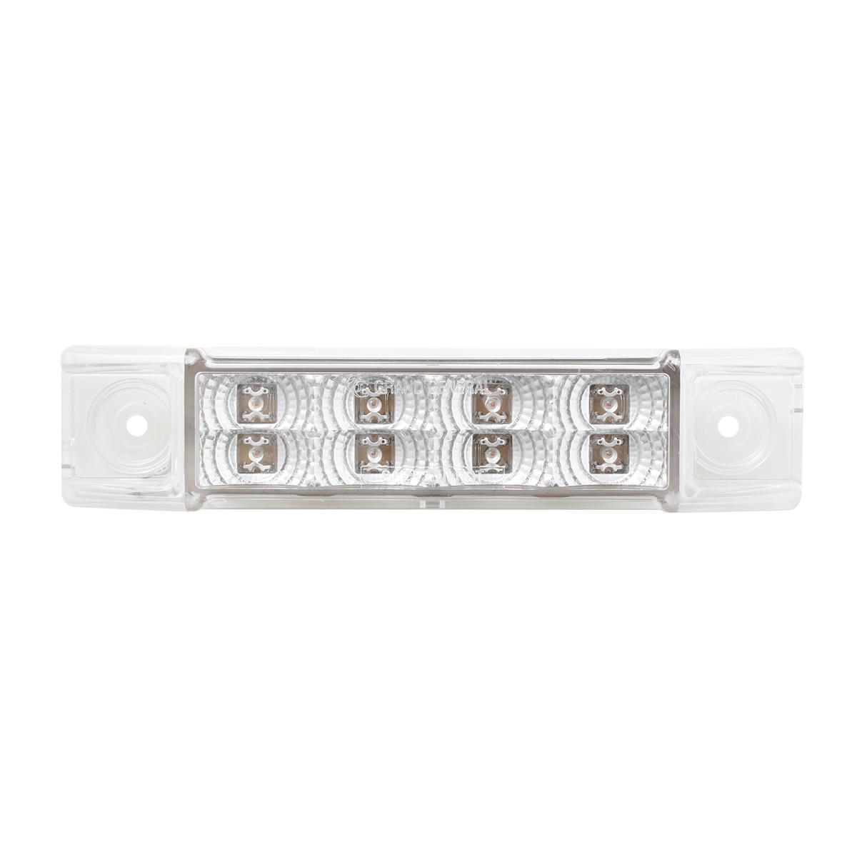 Rectangular Spyder Dual Function LED Light in Clear Lens