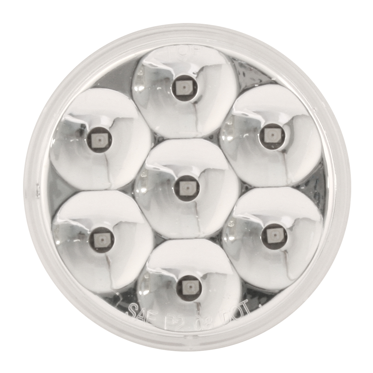 "2-1/2"" Pearl LED Marker Light in Clear Lens"