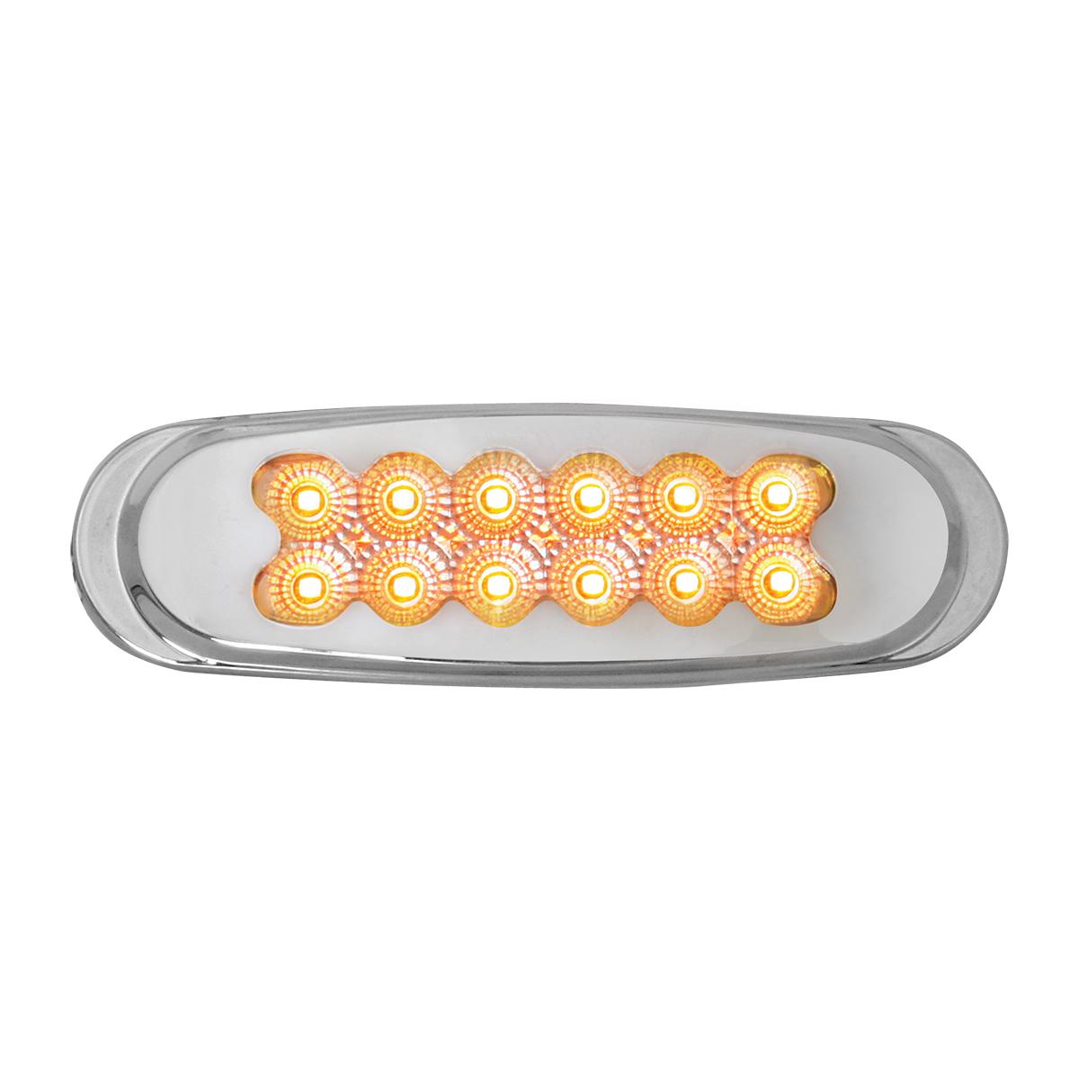 76706 Ultra Thin Dual Function Spyder LED Light w/ Chrome Plastic Matrix Bezel