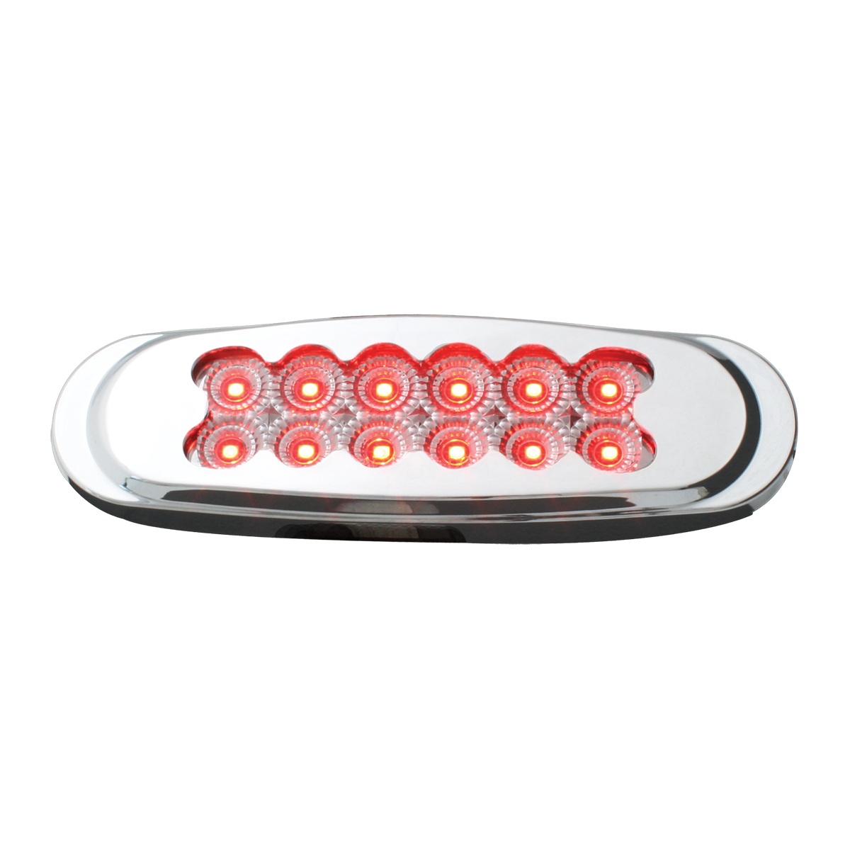 76703 Ultra Thin Spyder LED Marker Light w/ Chrome Plastic Matrix Bezel