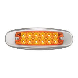 Ultra Thin Spyder LED Marker Light w/ Stainless Steel Bezel