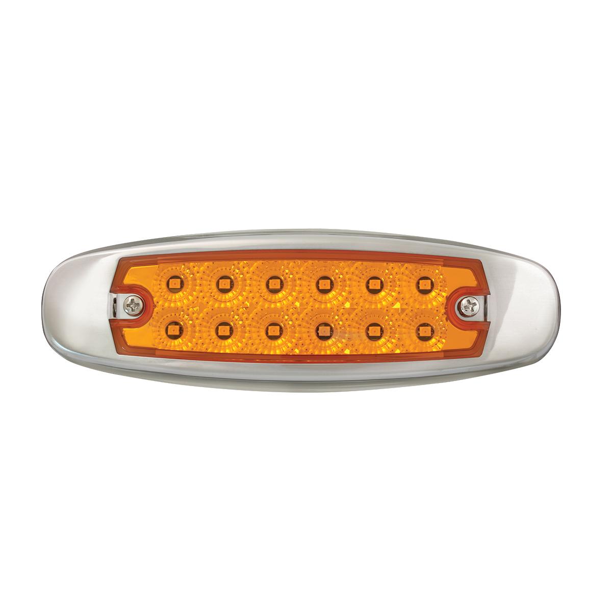 78565 Ultra Thin Spyder LED Marker Light w/ Stainless Steel Bezel