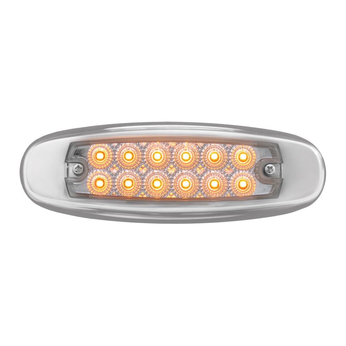 78566 Ultra Thin Spyder LED Marker Light w/ Stainless Steel Bezel