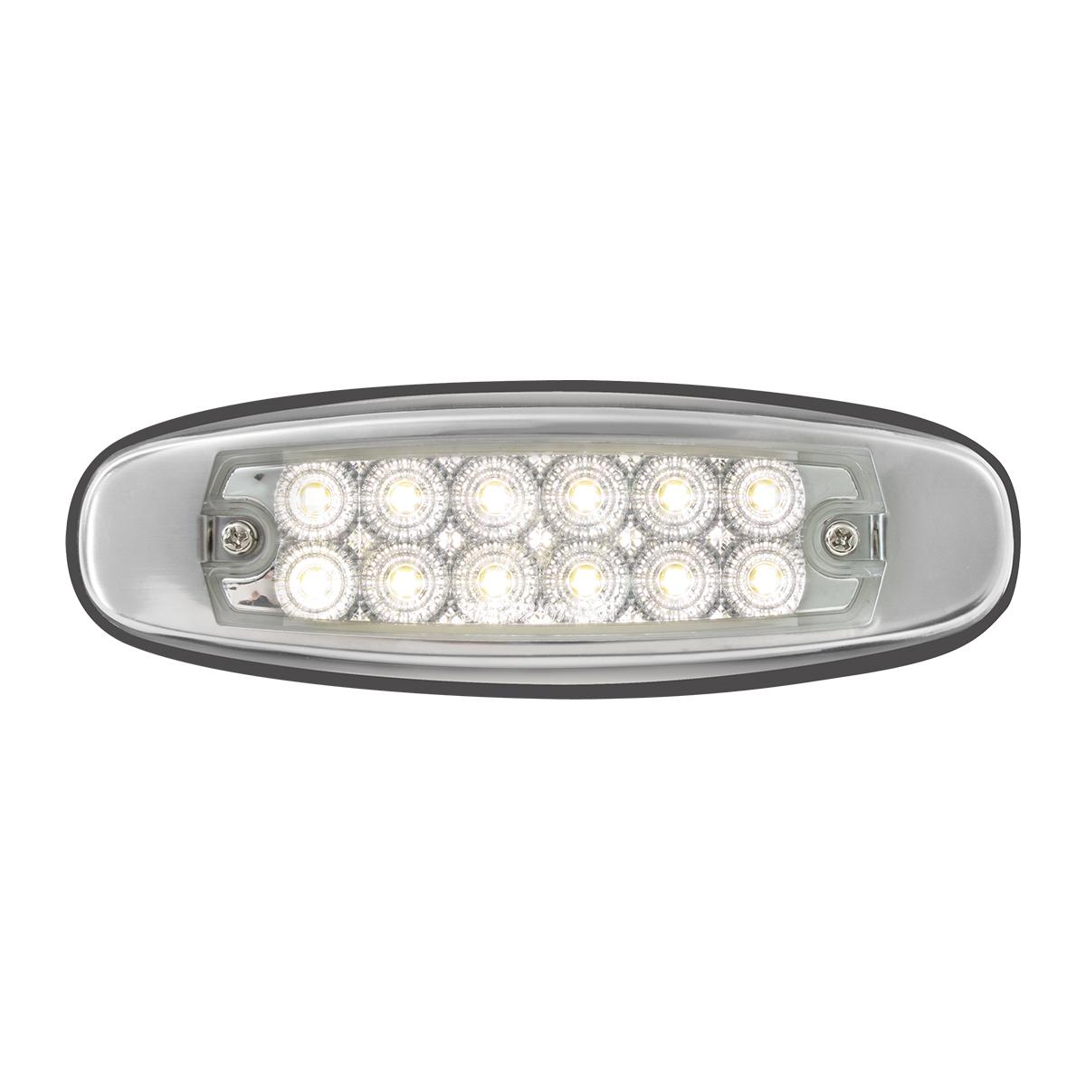 78569 Ultra Thin Spyder LED Marker Light w/ Stainless Steel Bezel