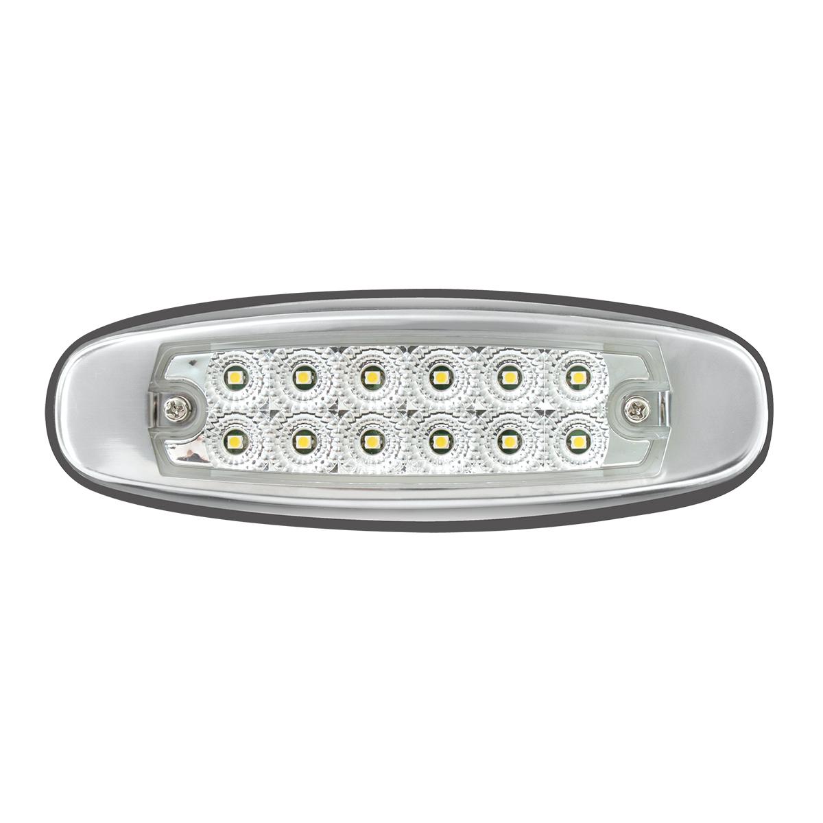 78569 Ultra Thin Spyder LED Marker Light w/ Stainless Steel Bezel In Clear Lens