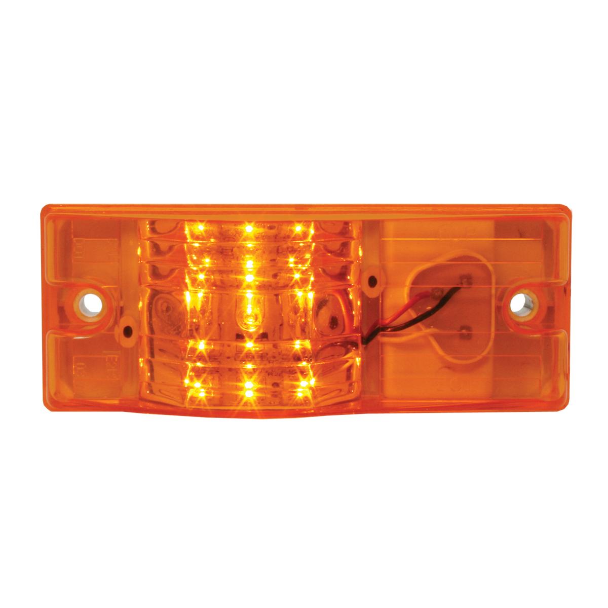 Rectangular Side Mount LED Marker & Turn Light In Amber Lens