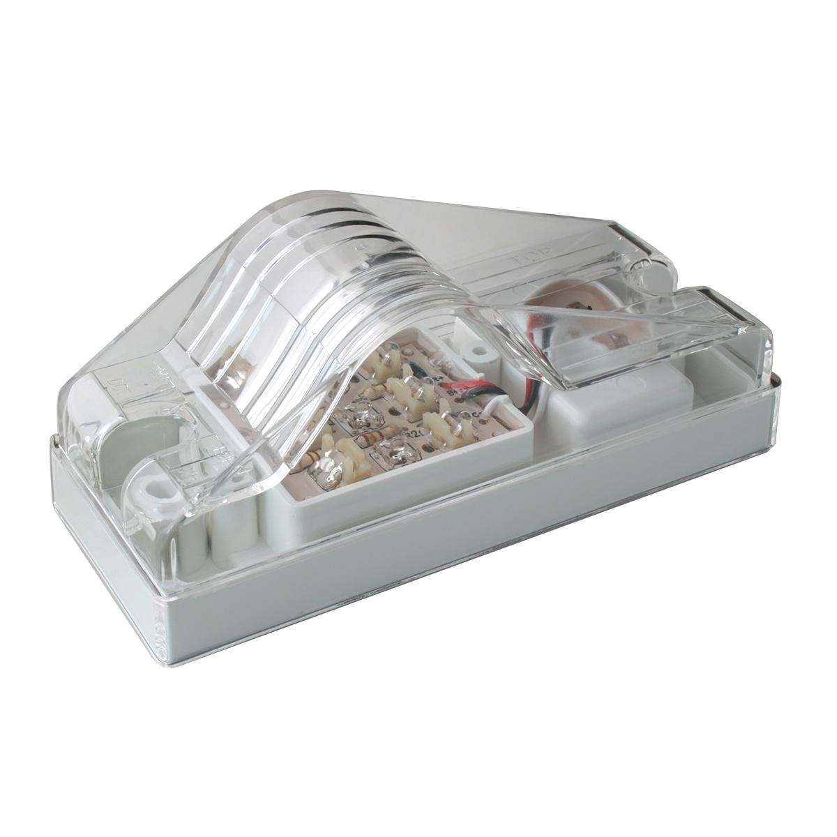 Rectangular Side Mount LED Marker & Turn Light In Clear Lens