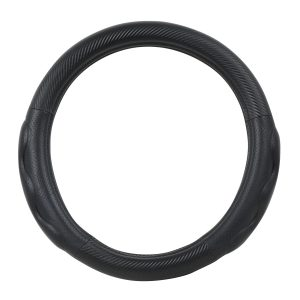 Heavy Duty 18″ Steering Wheel Cover in Deluxe+ Matte Carbon Fiber