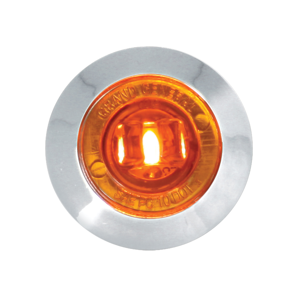 """75220 1-1/4"""" Dia. Dual Function LED Light with Chrome Plastic Bezel and Nut"""