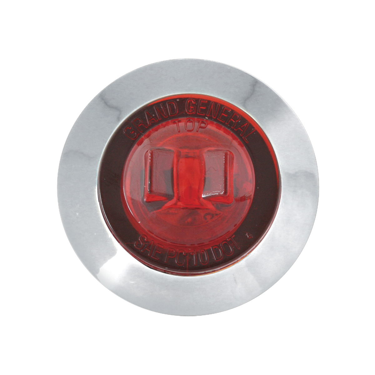 """75222 1-1/4"""" Dia. Dual Function LED Light with Chrome Plastic Bezel and Nut"""