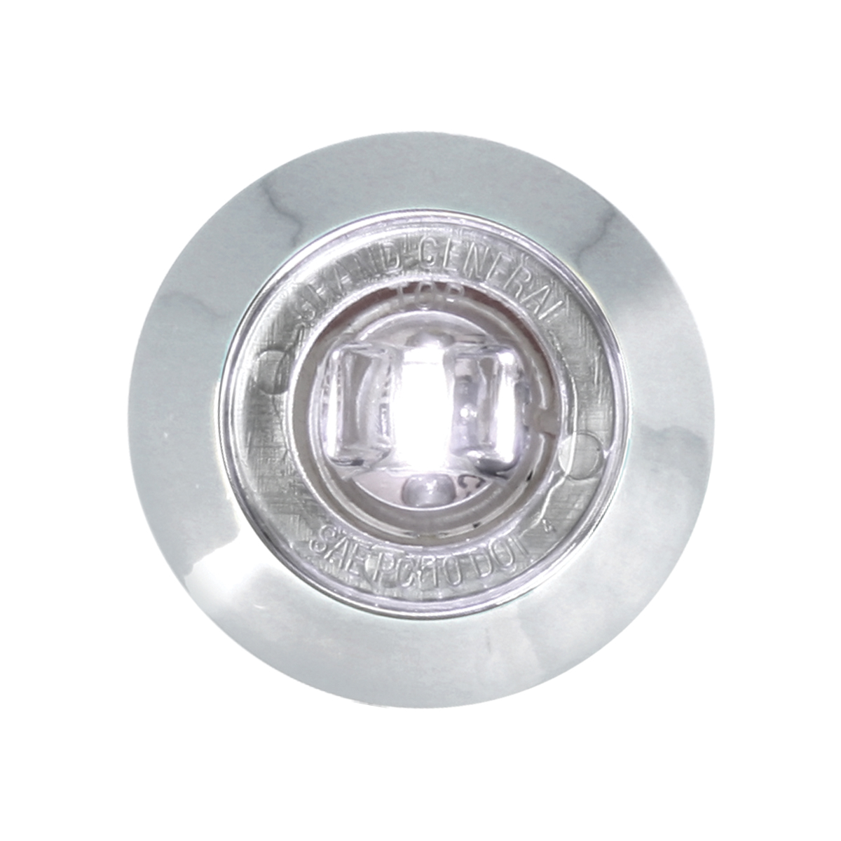 """75224 1-1/4"""" Dia. Dual Function LED Light with Chrome Plastic Bezel and Nut"""