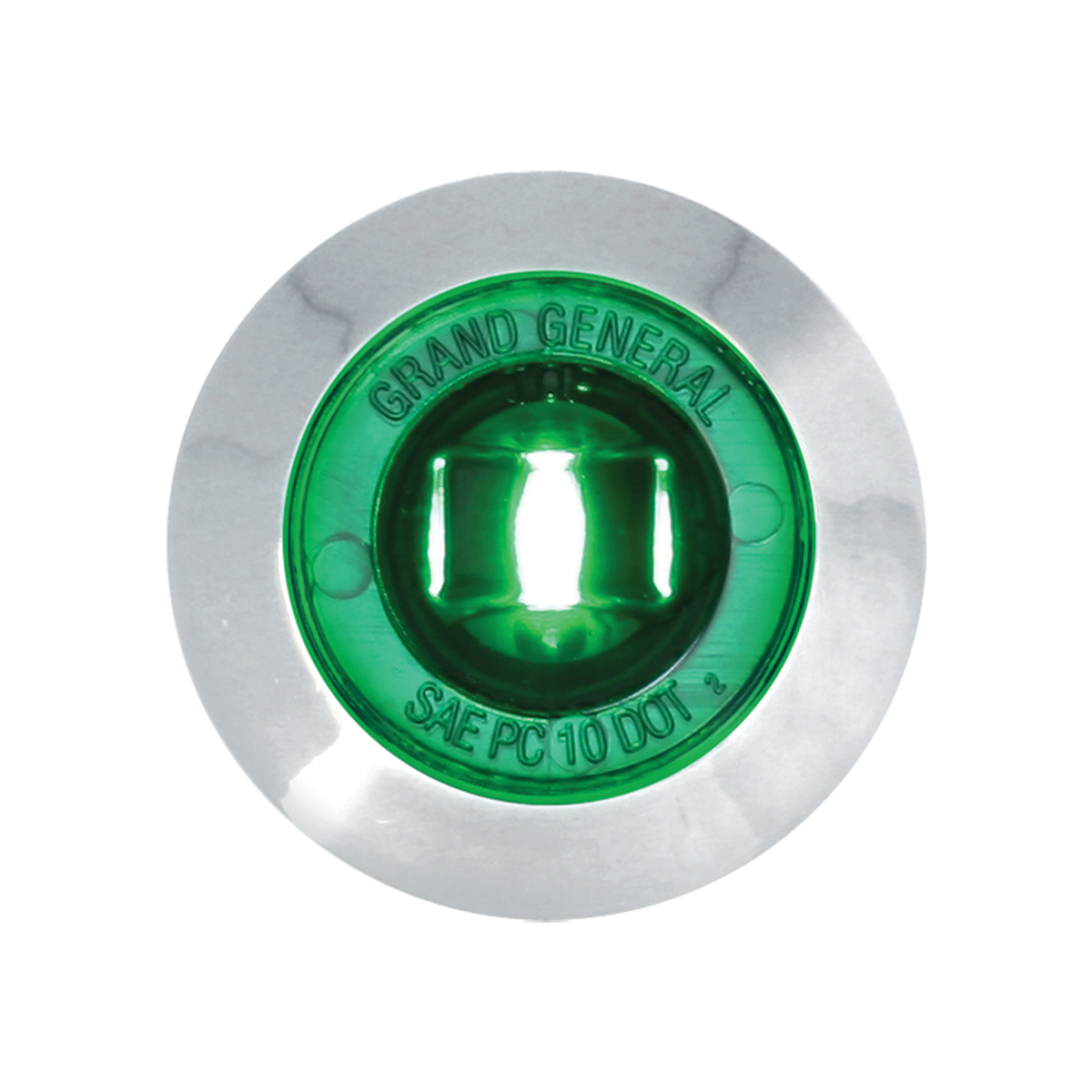 """75226 1-1/4"""" Dia. Dual Function LED Light with Chrome Plastic Bezel and Nut"""