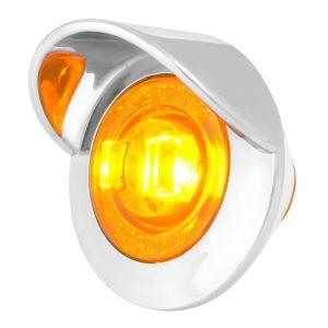 1-1/4″ Dia. Dual Function LED Light with Chrome Plastic Bezel w/ Visor and Nut