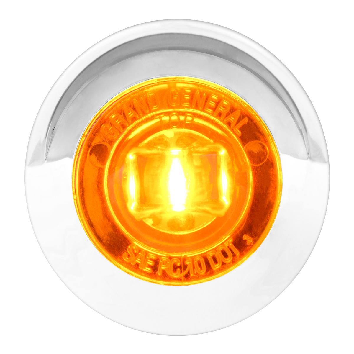 "75230 1-1/4"" Dia. Dual Function LED Light with Chrome Plastic Bezel w/ Visor and Nut"