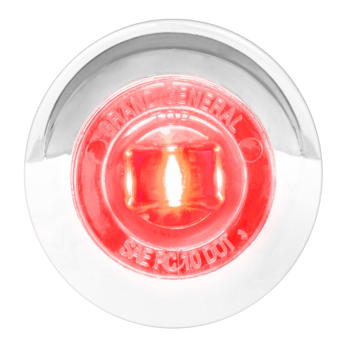 "75233 1-1/4"" Dia. Dual Function LED Light with Chrome Plastic Bezel w/ Visor and Nut"