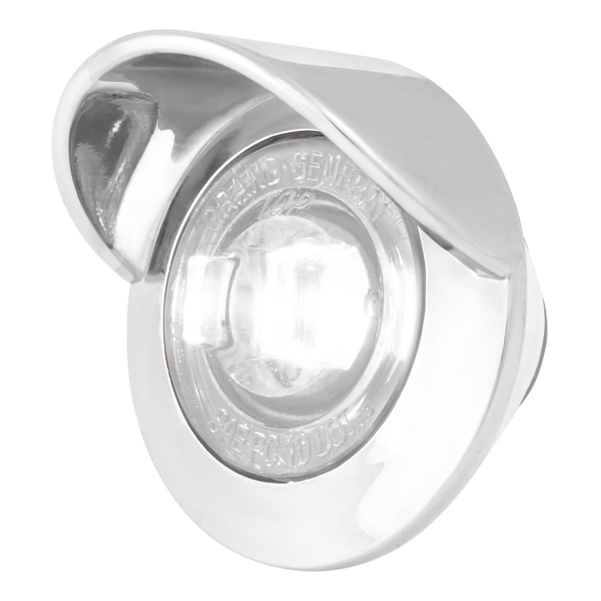 "75234 1-1/4"" Dia. Dual Function LED Light with Chrome Plastic Bezel w/ Visor and Nut"