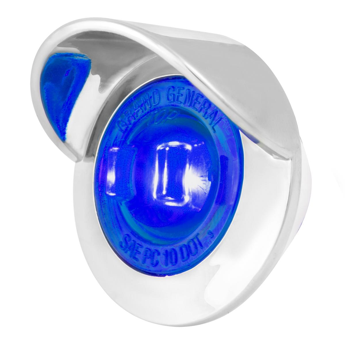 "75235 1-1/4"" Dia. Dual Function LED Light with Chrome Plastic Bezel w/ Visor and Nut"
