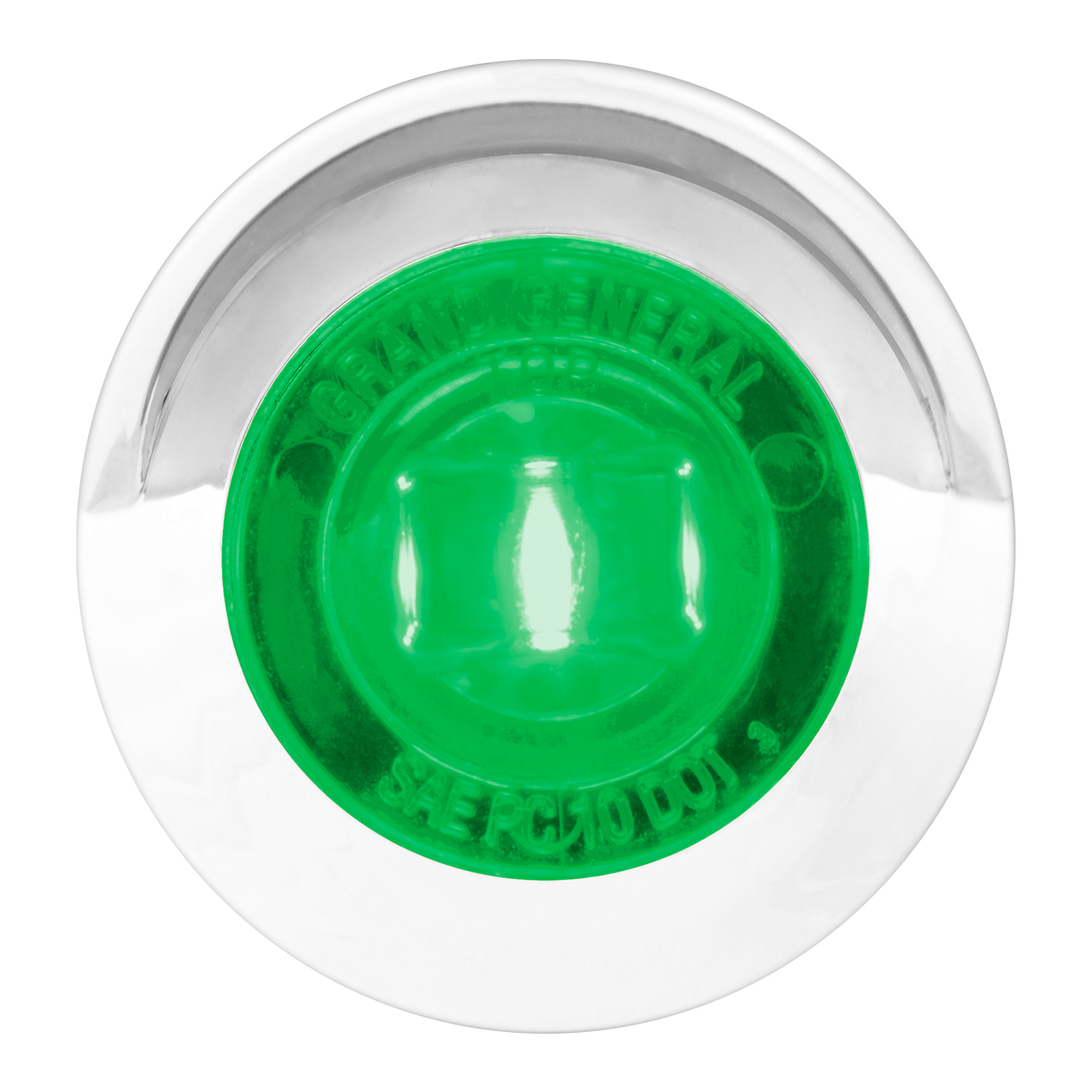 "75236 1-1/4"" Dia. Dual Function LED Light with Chrome Plastic Bezel w/ Visor and Nut"