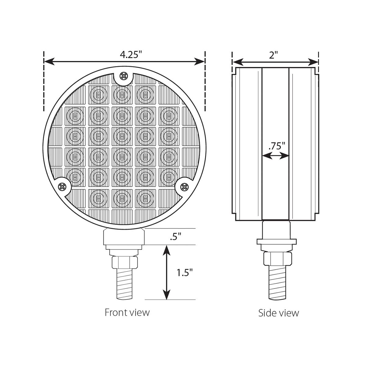 "4"" Double Face Smart Dynamic LED Pedestal Light"
